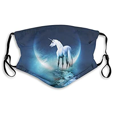 HOTBABYS Unicorn Art Reusable Activated Carbon Filter Face Covering with Replaceable Filter for Men Women Small