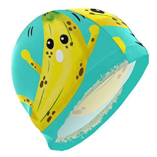 ALINLO Badekappen, witzige Bananen-Badekappe für Erwachsene, Männer, Jugendliche, Jungen