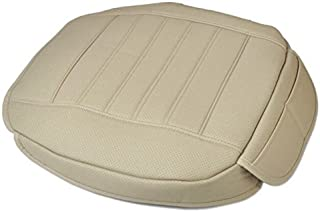 EDEALYN New (M) W 52 XL 53cm car Cover Interior Faux Leather Soft Car seat Cover seat Cushion for Car,1pcs (Beige-F)