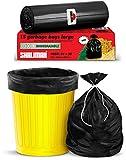 Shalimar Premium OXO - Biodegradable Garbage Bags (Large) Size 60 cm x 81 cm 6 Rolls (90 Bags) (Dustbin Bag/Trash Bag) (Black Colour) bottom diaper liners May, 2021