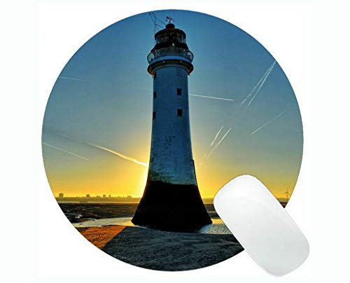 Yanteng Gaming Mouse Pads,Lighthouse Sea Cliffs Water Away Road Gaming Mouse Pads