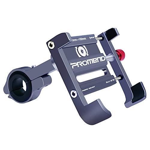 ENONEO Supporto Smartphone Bici 360 Gradi Universale Porta Cellulare Moto Aluminium Supporto Telefono Bicicletta per Bicicletta Elettrica Ciclismo GPS (Larghezza 2.1-3.9') (Grigio)