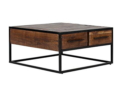 Massivum 10023658 Couchtisch Oklahoma, Holz, braun, 80 x 80 x 40 cm