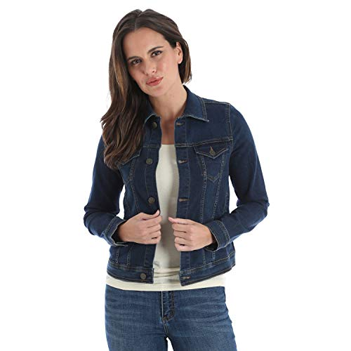 Wrangler Damen Retro Western Denim Jacke - Blau - X-Small