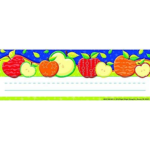 Eureka Color My World Apples Teacher Supplies Self-Adhesive Name Plates, 36 pcs, 9.5'' x 3.25''