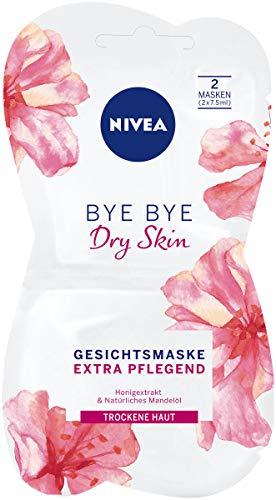 NIVEA Bye Bye Dry Skin Gesichtsmaske im 1er Pack (1 x 15 ml), intensive Gesichtspflege Maske beruhigt die Haut, Hautpflege Maske für trockene Haut