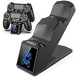 OIVO Ricarica Controller PS4, Caricatore Rapido per Joystick PS4 con Indicatore LED, Base di Ricarica Doppia per Sony Playstation 4 PS4 / PS4 Slim/PRO