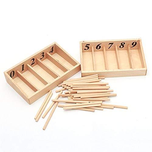 ZSYLOVE ZHANGSUYUAN Montessori Matemáticas Juguetes Matemáticas Montessori Materiales Caja de husillo de Madera educativa Aprendizaje temprano Entrenamiento Toy