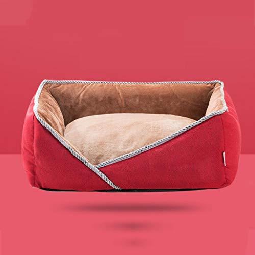QWERTY Donut hundebett Pet Nest ,Hundekorb Katzen Klein Hundebett Haustier Haus Rechteckig Weich Hundekörbchen, Haustierbett Winter, 60 * 50 * 19CM