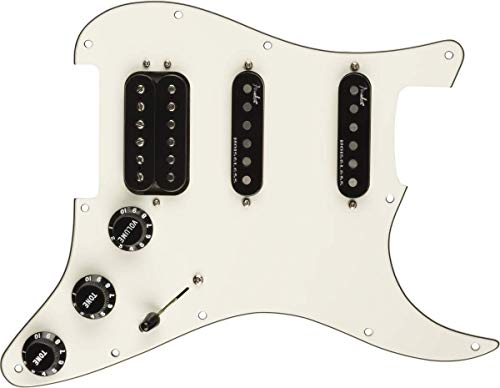 Guardabarros para guitarra eléctrica Fender Pre-Wired Strat Pickguard, Custom '69 SSS, blanco
