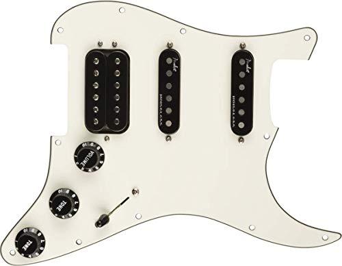 Fender Pre-wired Pickguard Strat Shawbucker Bridge/Gen4 Noiseless Middle&Neck - H/S/S - White