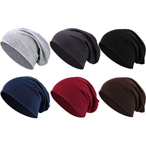 Outus Cappello a Cuffia Cotone Cappellino Slouchy Cotone Cappello da Dormire Cappello con Teschio Nano per Adulti e Bambini Accessori di Costume Hallo