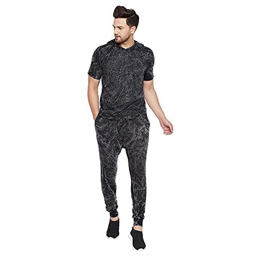 FUGAZEE Men's Acid oversized T-shirt and SweatPants Combo Clothing Set
