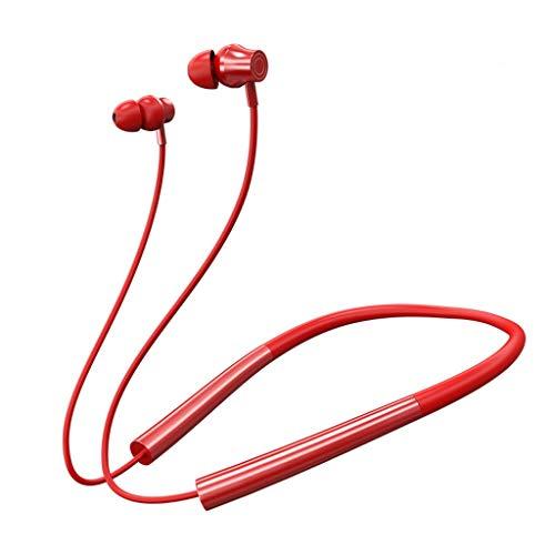 NXYJD Auricular Bluetooth 5.0 Auriculares inalámbricos Auriculares de Cuello magnético IPX5 Auricular Impermeable Earbud con Ruido Cancelación Mic