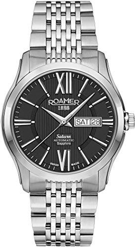 Roamer Reloj Analógico para Hombre de Mecánico con Correa en Acero Inoxidable 960637 41 53 90