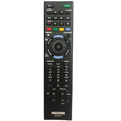 FYCJI Nuevo Reemplazo Mando Sony Bravia RM-ED047 Compatible con Todos los televisores Sony Mando a Distancia para Sony Bravia TV
