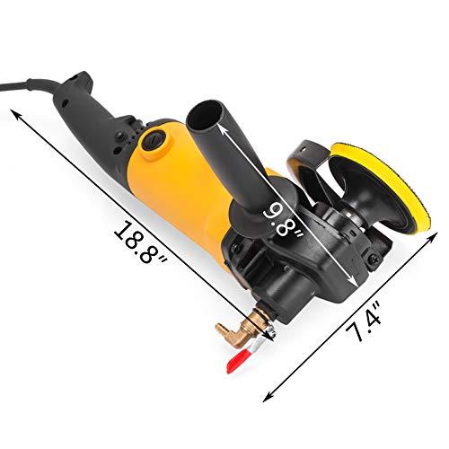 Moracle elektrische nat polijstapparaat, 900 W, met watervoorziening en slangadapter, 6 pads