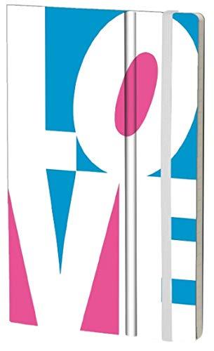 Stifflexible 140M FLUO LOVE - Cuaderno (13 x 21 cm, 192 páginas), color blanco