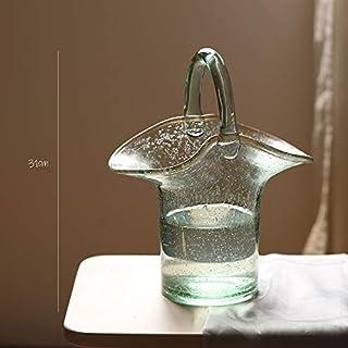 Weichuang Jarrón de flores para decoración de mesa, sala de estar, jarrón de cristal, recipientes de terrario, floreros fl...
