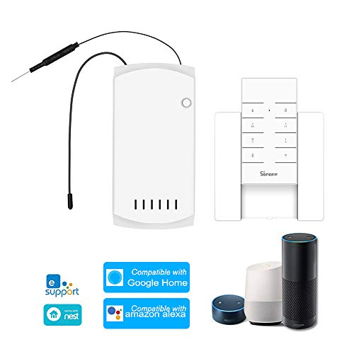 Galapara IFan03 plafondventilatorbesturing smart switch control wifi Smart plafondventilator lichtbesturing RM433 Base, compatibel met Amazon-Alexa, voor G-Home/Nest, IFTTT.