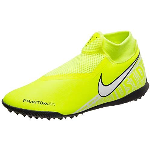 Nike Phantom Vsn Academy DF Tf, Scarpe da Calcio Uomo, Volt/White-Volt, 44 EU
