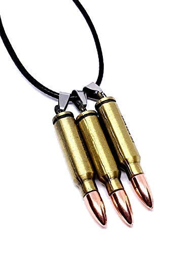 Eclectic Shop Uk 3 Three Bullet Pendant Necklace Chloe Price Life is Strange Long Cord Cosplay