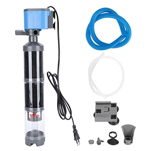 Filtro interno para acuarios, filtro de tanque de peces ultra silencioso multifuncional 5 en 1, filtro de acuario de 3 etapas de 35 W 2500L / H con ventosa estable para acuario de tanque(220V)