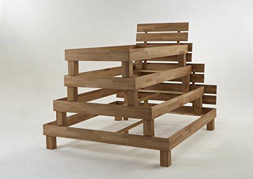 """Futonbett Bett """"Judith"""" Kernbuche-Massiv Natur geölt, 140 x 200 cm - 3"""