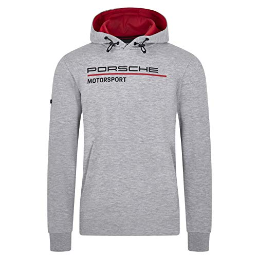 Porsche Motorsport Sweat-shirt à capuche pour homme Gris - gris - Large