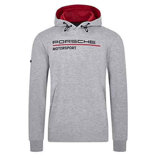 Porsche Motorsport Men's Gray Hoodie Sweatshirt (L)