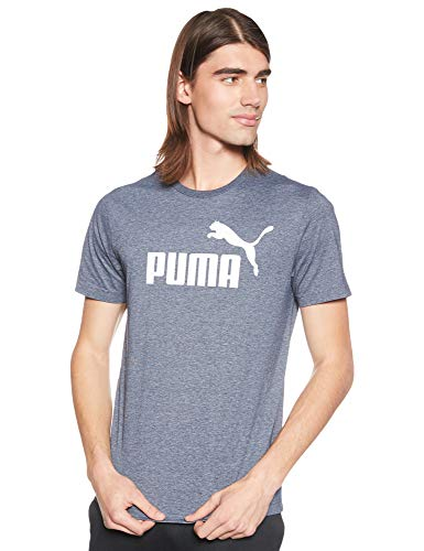 PUMA Herren ESS Tee T-Shirt, Peacoat Heather, M