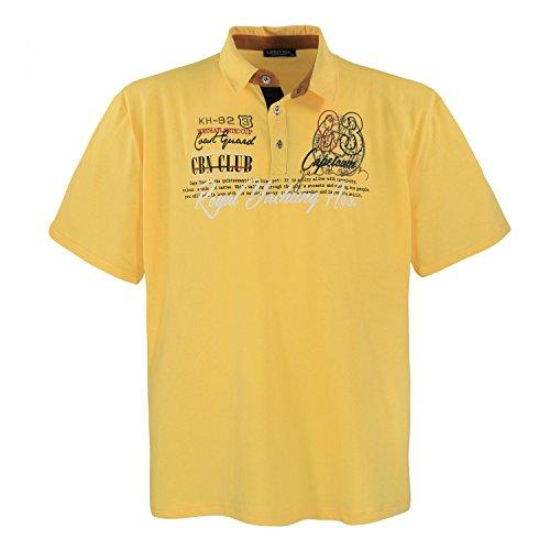 Lavecchia Men Polo Shirt Yellow Big Sizes, Dimensione:7XL