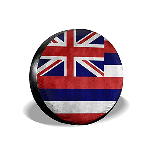 Cubierta DE LA Rueda Bandera Hawaiana Vintage Funda para Neumáticos Cubierta para Rueda de Repuesto Protección Bolsa de Almacenamiento