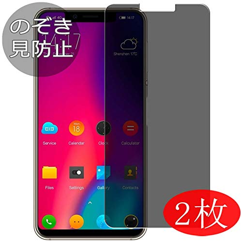 [2 Pack] Synvy Privacy Screen Protector Film for Maxku ELEPHONE A4 Pro/ELEPHONE A4 0.14mm Anti Spy Protective Protectors [Not Tempered Glass]