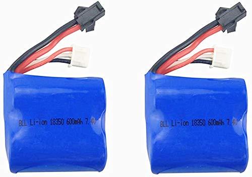 ZYGY 2PCS 7.4V 600mah Lipo Batteria per Syma Q2 Q3 Skytech H100 H102 H106 H120 Telecomando Modello di Nave Batteria al Litio