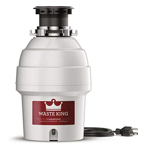 Waste King Legend Series 3/4 HP Garbage Disposal with Power Cord - (L-3300) (Renewed)