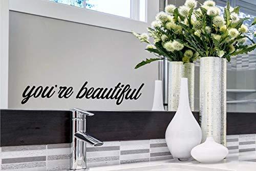 Youre Beautiful You are Beautiful Wandtattoo Spiegel Aufkleber Badezimmer Wandaufkleber