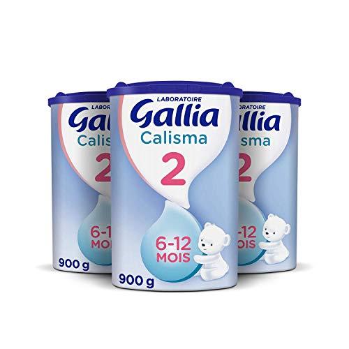 Laboratoire Gallia Calisma 2, Lait en poudre pour bébé, Dès 6 Mois jusqu'au 1 an, 900g (Packx3)