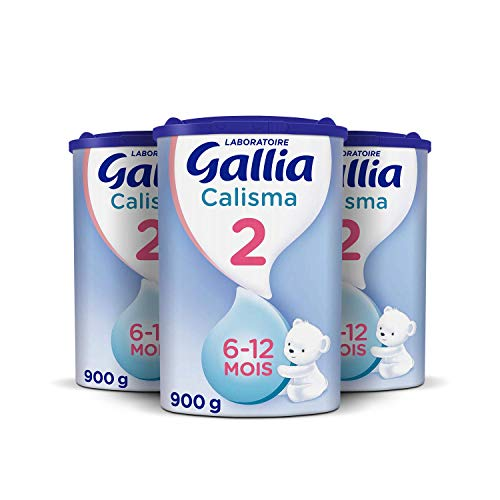 Laboratoire Gallia Calisma 2ème âge - Lait de suite en poudre dès les 6 mois et jusqu'au 1 an de bébé - Pack de 3 Boîtes de 900 g