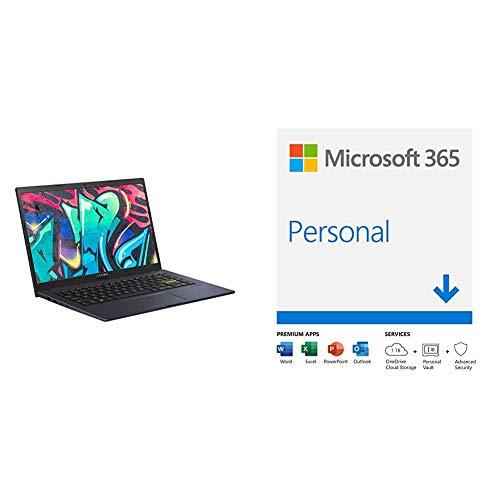 ASUS VivoBook X413FA Full HD 14' Laptop (Intel i7-10510U, 8 GB RAM, 512 GB M.2 NVMe PCIe SSD + 32 GB Intel Optane Memory, Windows 10, Wi-Fi 6)