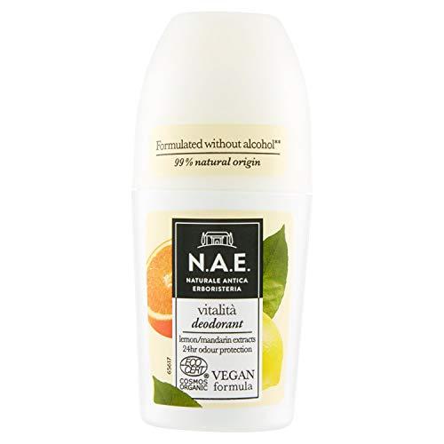 N.A.E. Desodorante vitalidad con extractos de hojas de limón y mandarina biológicos, 50 ml