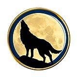 Lobo Aullante Prendedor Pin