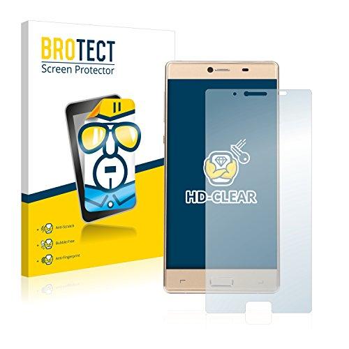 BROTECT Schutzfolie kompatibel mit Medion Life X5004 (MD 99238) (Rückseite) (2 Stück) klare Bildschirmschutz-Folie