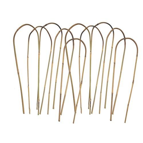24 in. Bamboo U Trellis Hoop Stakes (10 Pack)