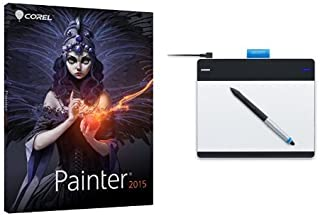 Bundle: Corel Painter 2015 and Wacom Intuos Pen with Touch Small Tablet