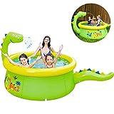 YQZ Piscina Inflable para niños, Juguetes de Agua para rociadores de Dinosaurios, Parque acuático, PVC Duradero, Plegable, 175x62 cm