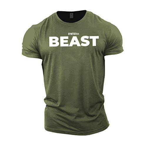 GYMTIER Beast - Bodybuilding-T - Shirt   Herren Fitness T-Shirt Muskelshirt Trainingsbekleidung