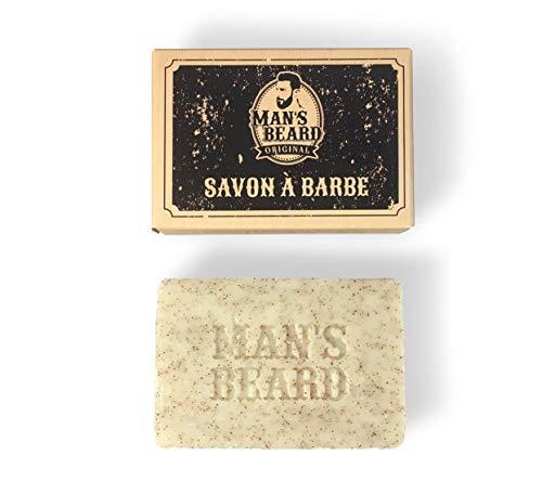 Man 's Beard–Creación francesa–Jabón exfoliante con leche de cabra alpina para un crecimiento homogéneo de la barba