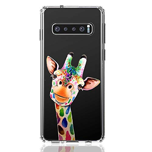 HUIYCUU Case Compatible with Galaxy S10E Case, Cute Animal Design Slim Fit Soft TPU Protective Cover Shockproof Funny Pattern Thin Clear Novelty Bumper Back Shell for Galaxy S10E, Giraffe