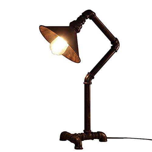 ZWL Lampe de table en fer, Retro Industriel Punk Pipe à Eau Métal Lampes de Bureau Chevet Table de Chevet Chambre Salon Café Bar Accueil Luminaire (Ampoules Non Inclus) fashion.z (taille : #1)